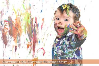 Messy Paint And Cake Smash Photography Studio In